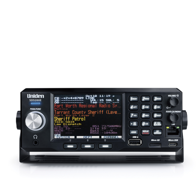 Uniden SDS200E - with activated DMR, NXDN and ProVoice